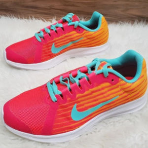 New Nike Downshifter Fade Pink Neon Sneakers